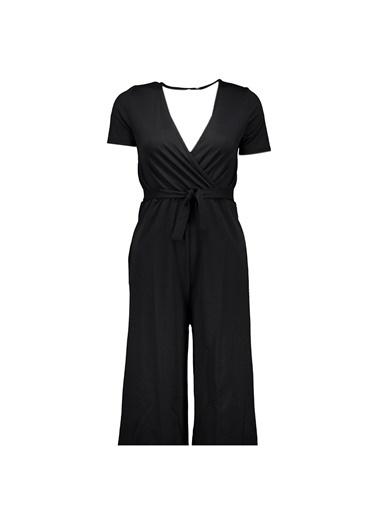 Collezione Siyah Kadın Örme Tulum Siyah